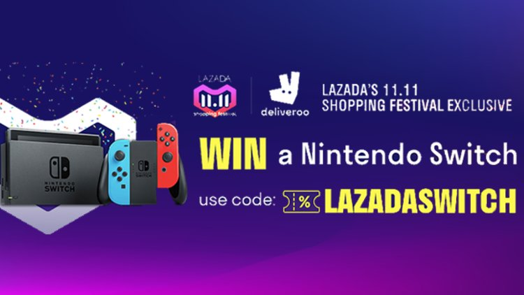 Win a Nintendo Switch this Singles' Day with Deliveroo & Lazada